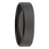 Beveled Edge Flat Black Zirconium Mens Ring