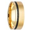Rope Zirconium Inlay & Yellow Gold Mens Ring