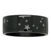 Aquarius Star Constellation Zirconium Mens Ring