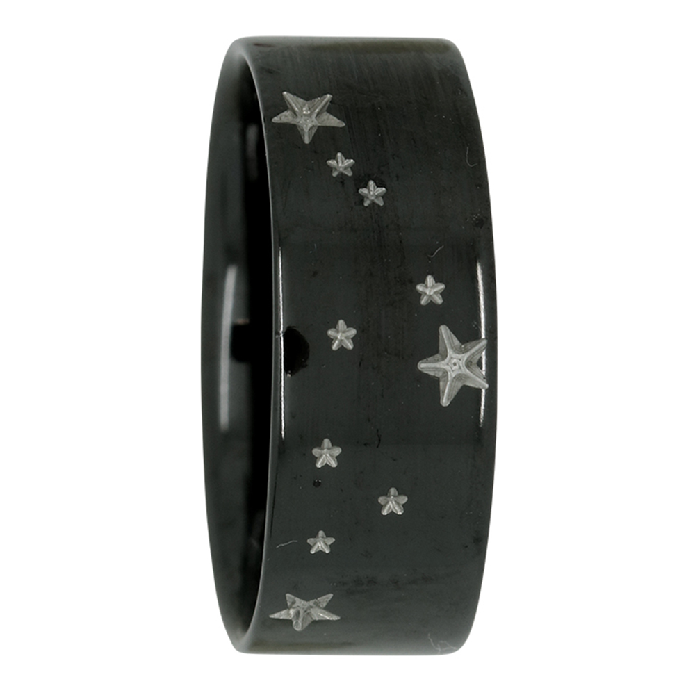 Capricorn Star Constellation Zirconium Mens Ring