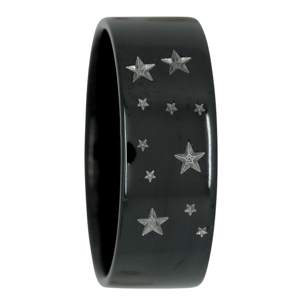 Gemini Star Constellation Zirconium Mens Ring