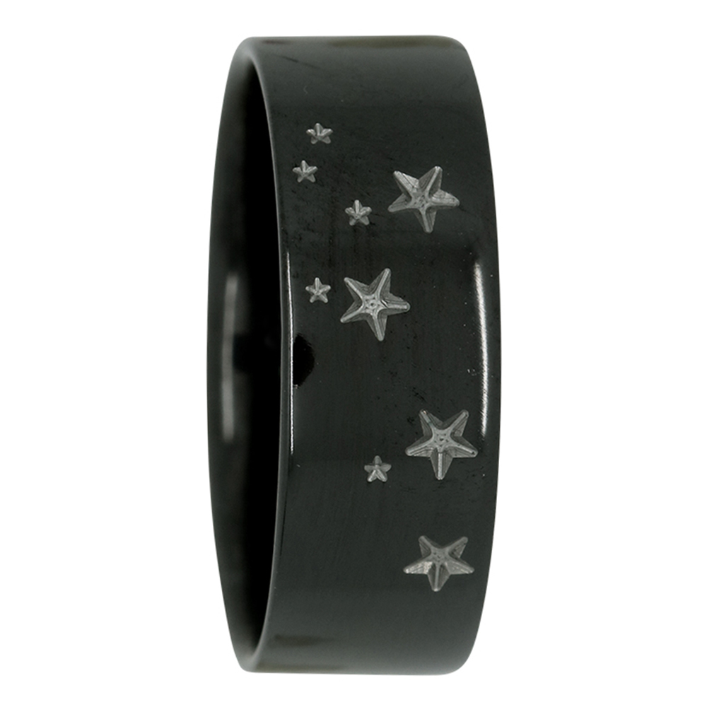 Leo Star Constellation Zirconium Mens Ring