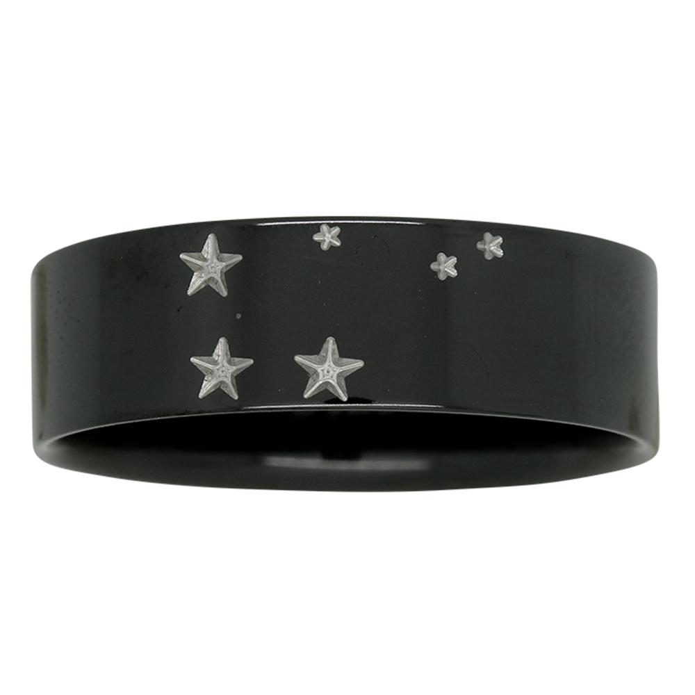 Libra Star Constellation Zirconium Mens Ring
