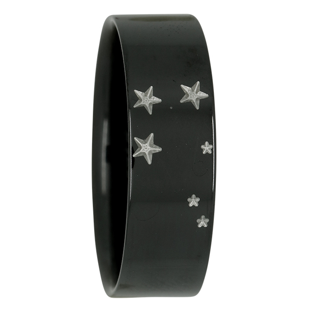 Libra Star Constellation Zirconium Mens Ring