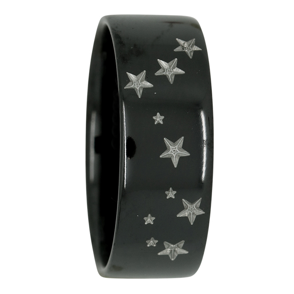 Pisces Star Constellation Zirconium Mens Ring