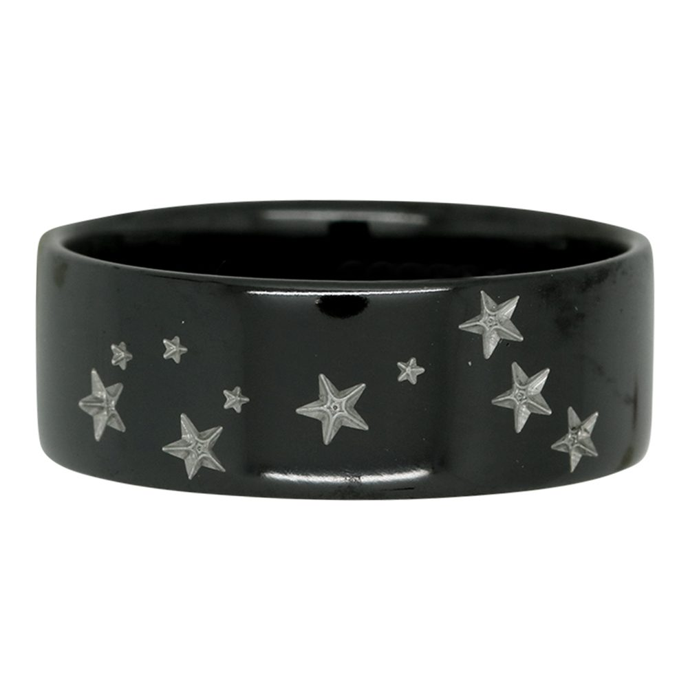 Pisces Star Constellation Zirconium Mens Ring