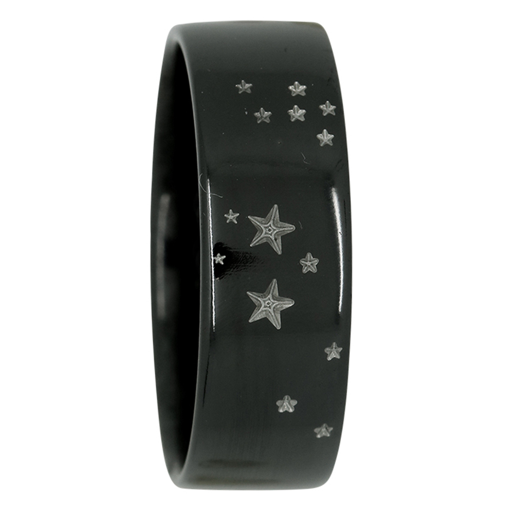 Sagittarius Star Constellation Zirconium Mens Ring