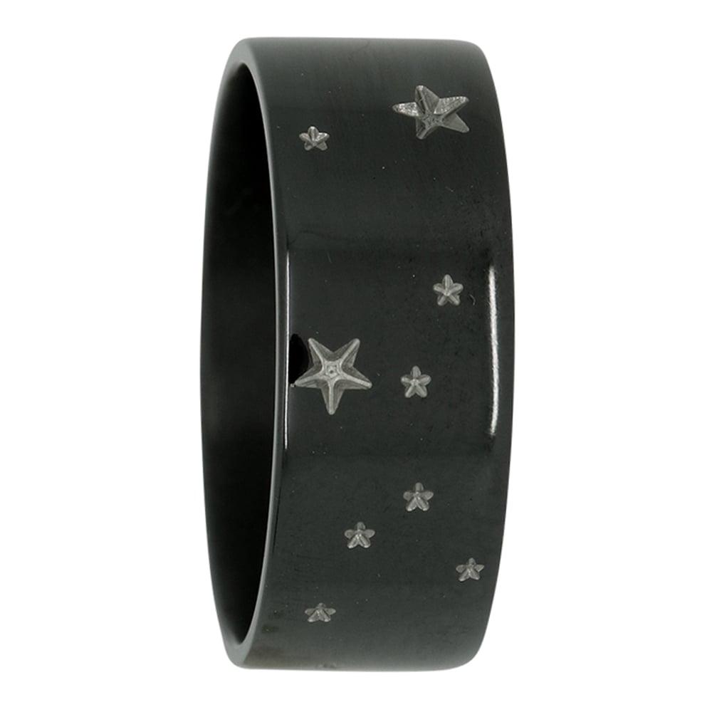 Taurus Star Constellation Zirconium Mens Ring
