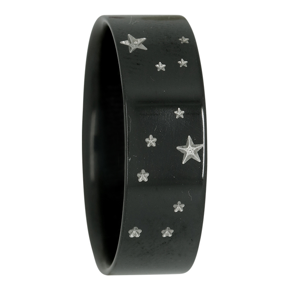 Virgo Star Constellation Zirconium Mens Ring