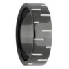 Dash Pattern Black Zirconium Mens Ring