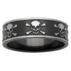 Skull & Crossbones Zirconium Mens Ring