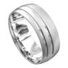 Impressive White Gold Brushed Mens Wedding Ring