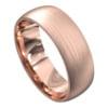 Brushed Finish Rose Gold Mens Wedding Ring