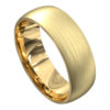 Stunning Brushed Finish Yellow Gold Mens Wedding Ring