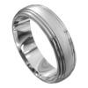 Brilliant White Gold Brushed Mens Wedding Ring