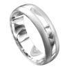 Brilliant Polished White Gold Mens Wedding Ring
