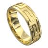 Brilliant Polished Yellow Gold Mens Wedding Ring