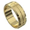 Impressive Yellow Gold Mens Wedding Ring