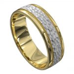 Brilliant Yellow and White Gold Mens Wedding Ring