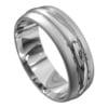White Gold Brushed and Polished Mens Wedding Ring