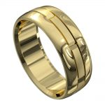 Remarkable Yellow Gold Mens Wedding Ring