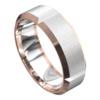 Rose and White Gold Brushed Finish Mens Wedding Ring