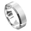 Impressive White Gold Brushed Finish Mens Wedding Ring