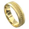 Sensational Yellow Gold Mens Wedding Ring