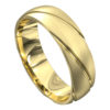 Grooved Yellow Gold Mens Wedding Ring