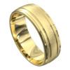 Sensational Yellow Gold Brushed Mens Wedding Ring