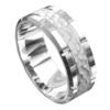 Brilliant White Gold Polished Mens Wedding Ring