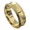 Yellow Gold Brushed Mens Wedding Ring