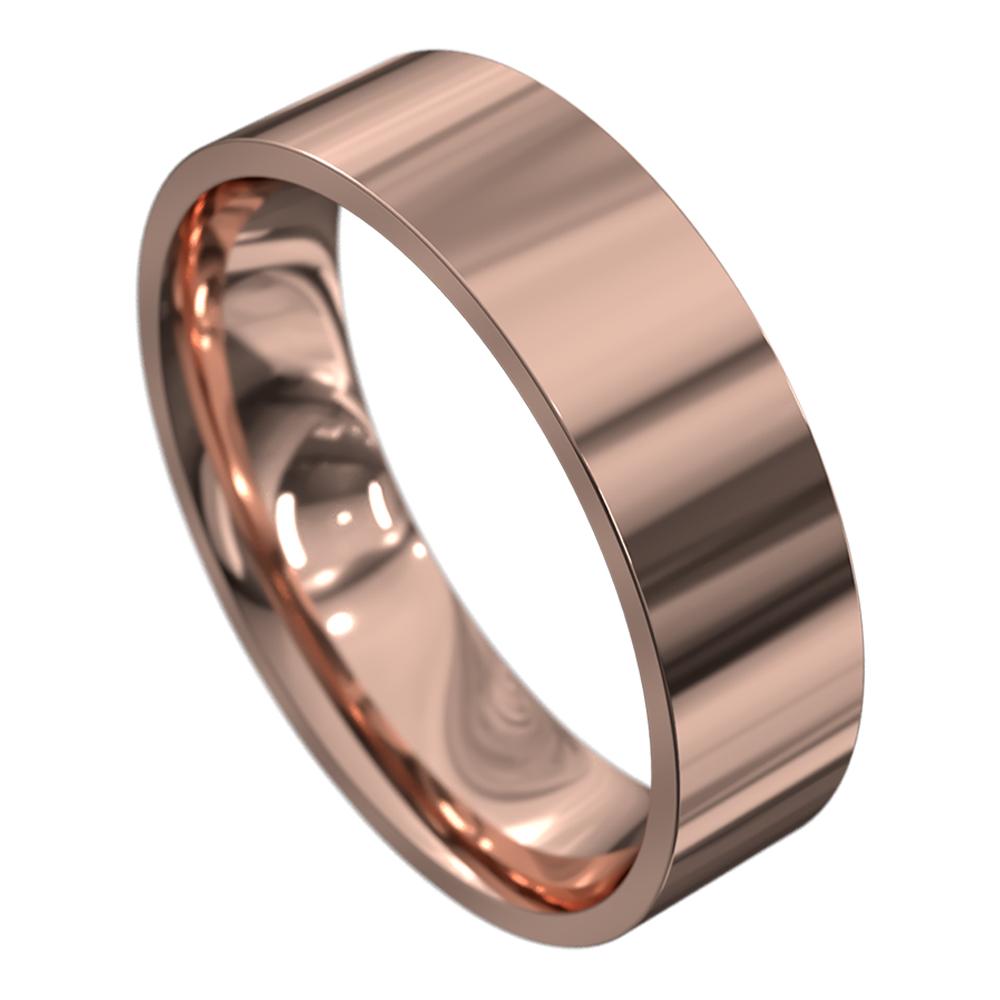 Stunning Rose Gold Mens Wedding Ring