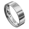 High Polished White Gold Mens Wedding Ring