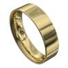 Impressive Polished Yellow Gold Mens Wedding Ring