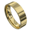 Sensational Flat Yellow Gold Mens Wedding Ring