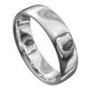 White Gold High Polished Mens Wedding Ring