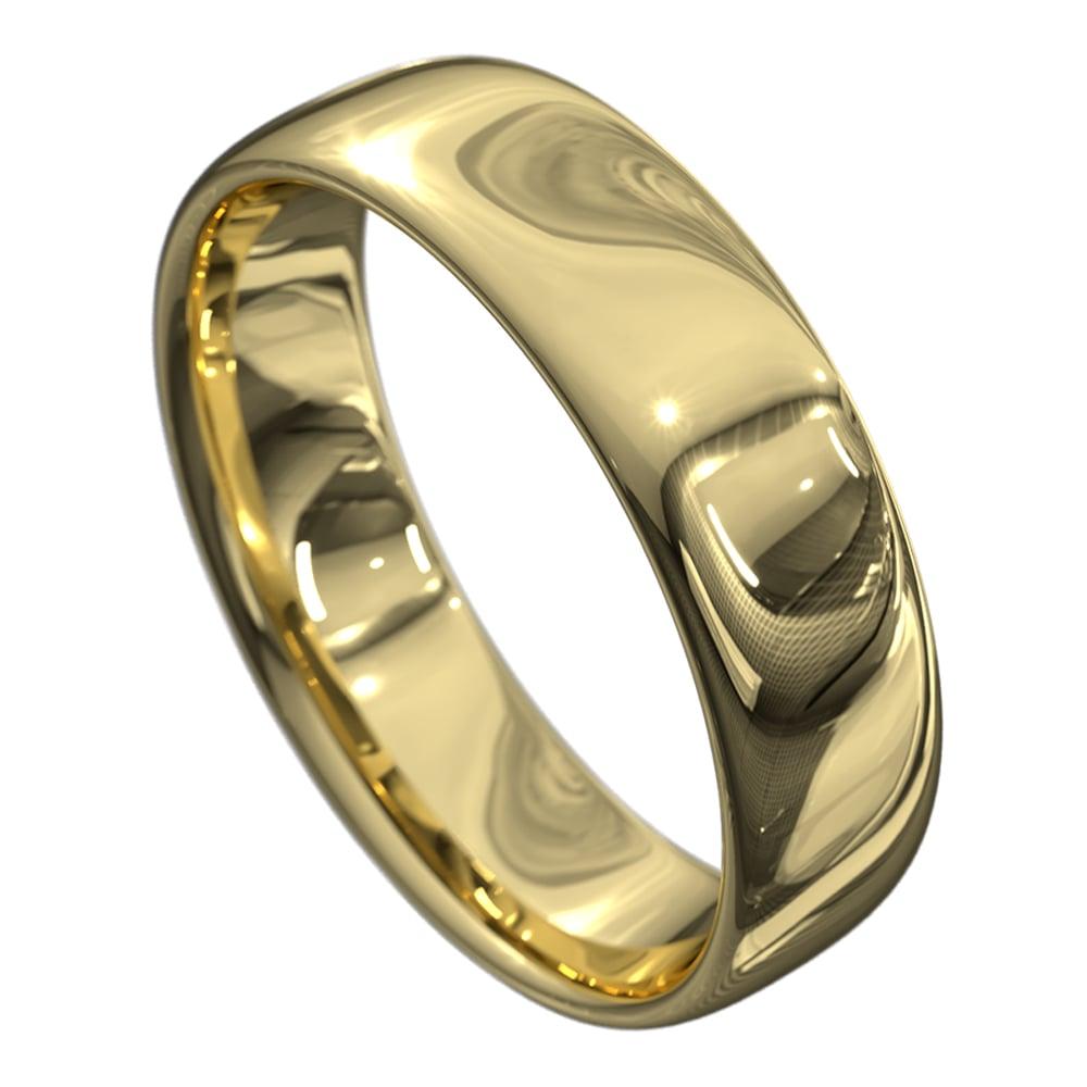 Stunning Yellow Gold Mens Wedding Ring
