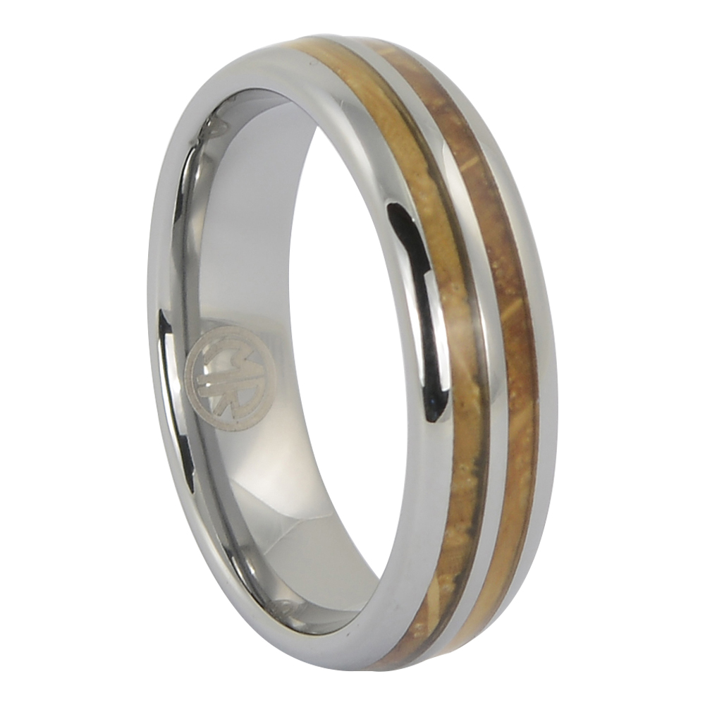 FTR-132 – Tungsten and whiskey barrel mens ring