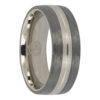 Titanium mens wedding ring