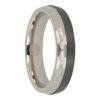 Carbon Fibre and faceted titanium mens ring
