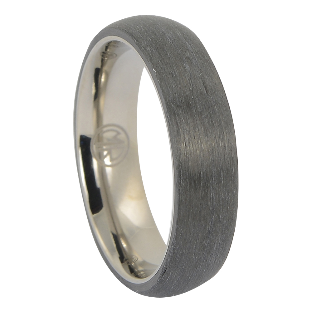 ITR-174 Carbon Fibre and titanium mens ring