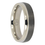 Titanium and carbon fibre mens ring