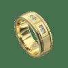 Sensational Yellow Gold Brushed Mens Ring