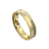 Yellow and White Gold Brushed Mens Ring