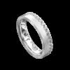 Brilliant White Gold Brushed Mens Ring