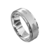 Remarkable White Gold Brushed and Polished Mens Ring